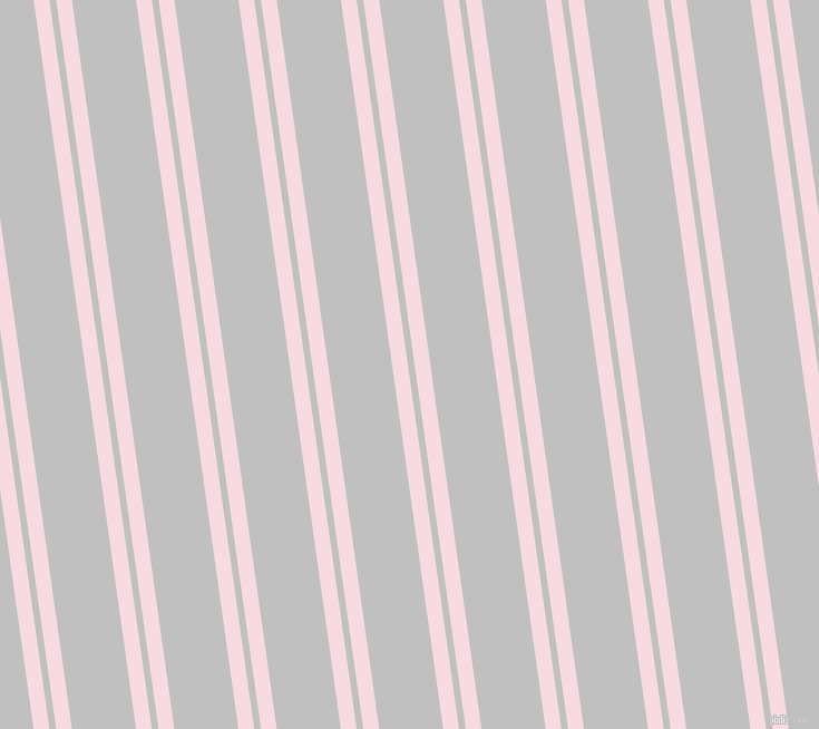 98 degree angles dual striped lines, 14 pixel lines width, 6 and 57 pixels line spacing, Carousel Pink and Silver dual two line striped seamless tileable