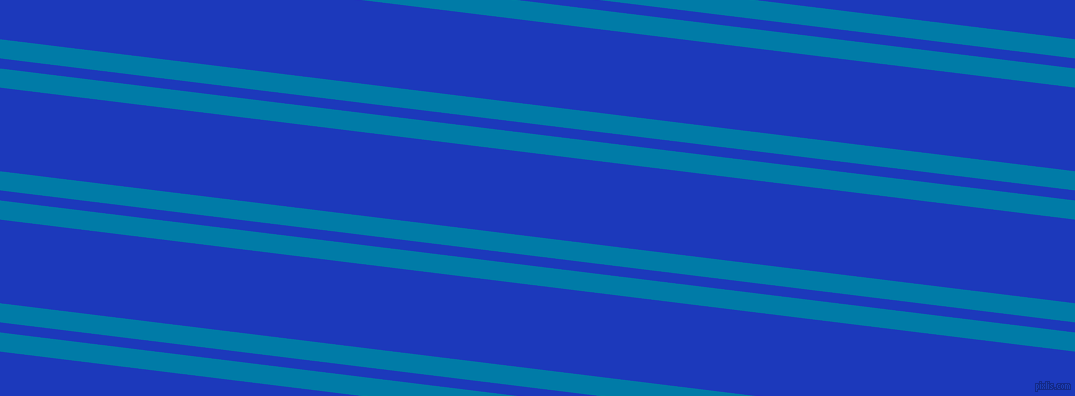 173 degree angle dual stripe lines, 19 pixel lines width, 10 and 83 pixel line spacing, Cerulean and Persian Blue dual two line striped seamless tileable