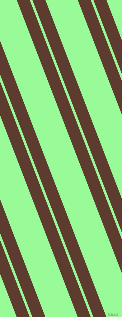 111 degree angles dual stripes lines, 39 pixel lines width, 8 and 97 pixels line spacing, Cioccolato and Pale Green dual two line striped seamless tileable