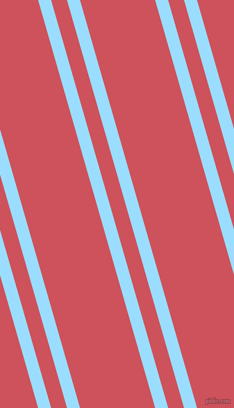 106 degree angles dual striped line, 18 pixel line width, 22 and 104 pixels line spacing, Columbia Blue and Mandy dual two line striped seamless tileable