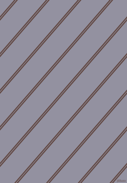 49 degree angles dual striped line, 5 pixel line width, 2 and 85 pixels line spacing, Congo Brown and Grey Suit dual two line striped seamless tileable