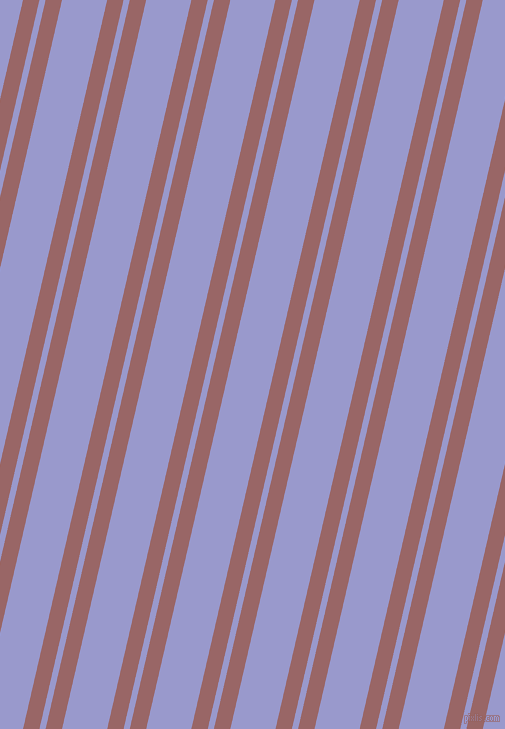 77 degree angles dual striped lines, 16 pixel lines width, 6 and 44 pixels line spacing, Copper Rose and Blue Bell dual two line striped seamless tileable