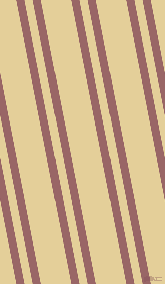 101 degree angle dual striped line, 16 pixel line width, 16 and 59 pixel line spacing, Copper Rose and Double Colonial White dual two line striped seamless tileable
