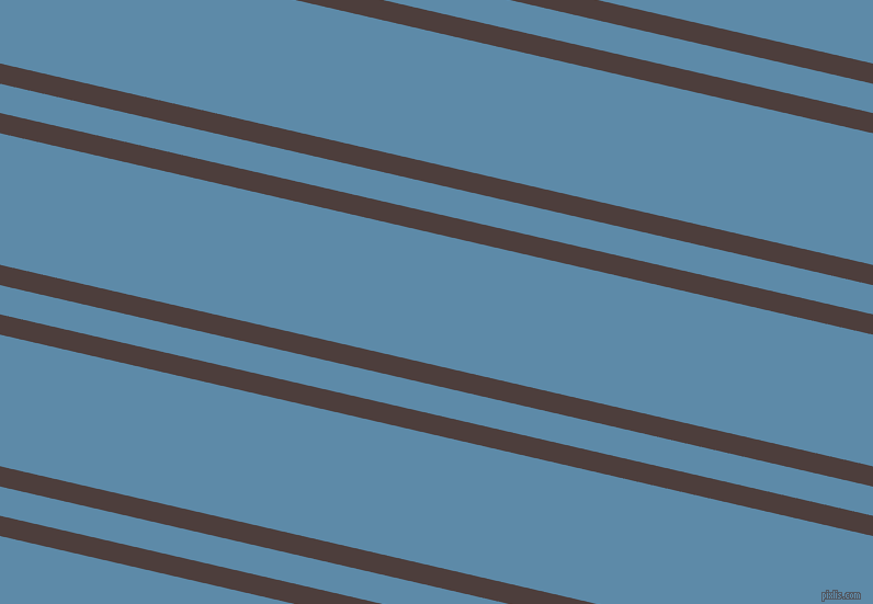 167 degree angle dual stripes line, 18 pixel line width, 26 and 117 pixel line spacing, Crater Brown and Air Force Blue dual two line striped seamless tileable