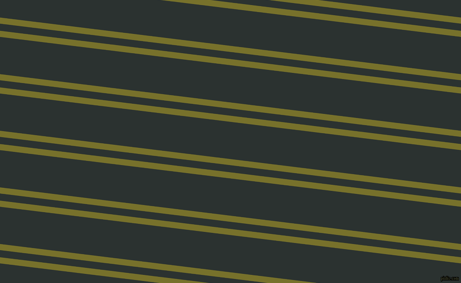 173 degree angle dual striped line, 12 pixel line width, 14 and 73 pixel line spacing, Crete and Woodsmoke dual two line striped seamless tileable