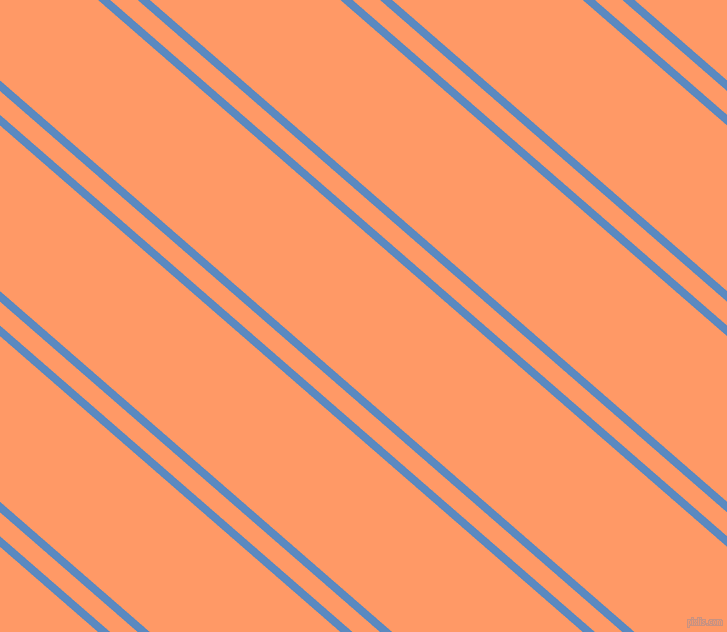 139 degree angle dual striped line, 8 pixel line width, 18 and 125 pixel line spacing, Danube and Atomic Tangerine dual two line striped seamless tileable