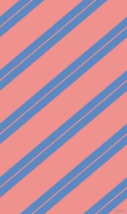 40 degree angles dual stripe line, 25 pixel line width, 4 and 86 pixels line spacing, Danube and Sweet Pink dual two line striped seamless tileable