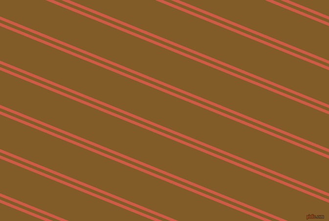 158 degree angle dual stripes lines, 6 pixel lines width, 6 and 66 pixel line spacing, Dark Coral and Hot Curry dual two line striped seamless tileable