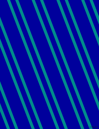 111 degree angle dual stripes line, 12 pixel line width, 20 and 51 pixel line spacing, Dark Cyan and New Midnight Blue dual two line striped seamless tileable