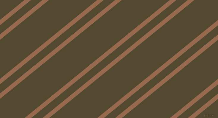 39 degree angle dual stripes line, 14 pixel line width, 24 and 102 pixel line spacing, Dark Tan and Punga dual two line striped seamless tileable