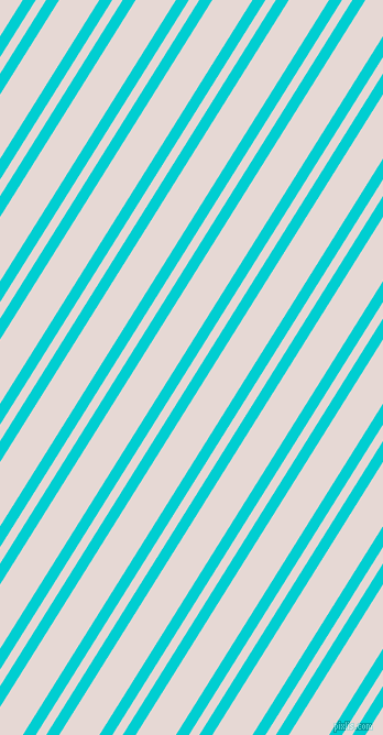 58 degree angle dual stripes lines, 10 pixel lines width, 8 and 31 pixel line spacing, Dark Turquoise and Ebb dual two line striped seamless tileable