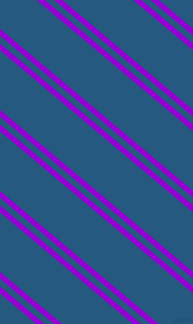 140 degree angles dual striped line, 11 pixel line width, 12 and 93 pixels line spacing, Dark Violet and Bahama Blue dual two line striped seamless tileable