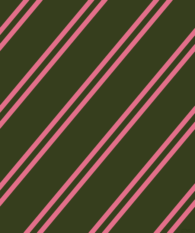 50 degree angle dual stripe lines, 16 pixel lines width, 18 and 115 pixel line spacing, Deep Blush and Turtle Green dual two line striped seamless tileable