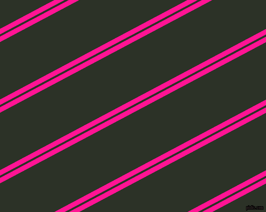28 degree angles dual stripes lines, 10 pixel lines width, 4 and 104 pixels line spacingDeep Pink and Black Forest dual two line striped seamless tileable