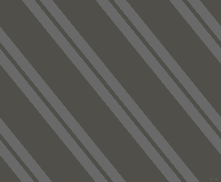 129 degree angles dual stripes line, 34 pixel line width, 14 and 116 pixels line spacing, Dim Gray and Dune dual two line striped seamless tileable