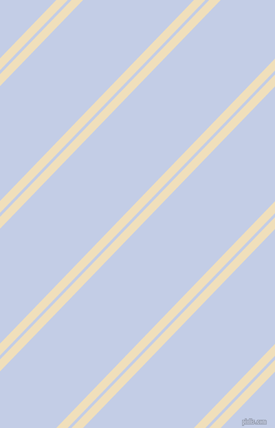 46 degree angle dual stripes lines, 12 pixel lines width, 4 and 116 pixel line spacing, Dutch White and Periwinkle dual two line striped seamless tileable