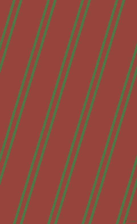 73 degree angles dual stripes lines, 9 pixel lines width, 14 and 83 pixels line spacing, Fern Green and Mojo dual two line striped seamless tileable