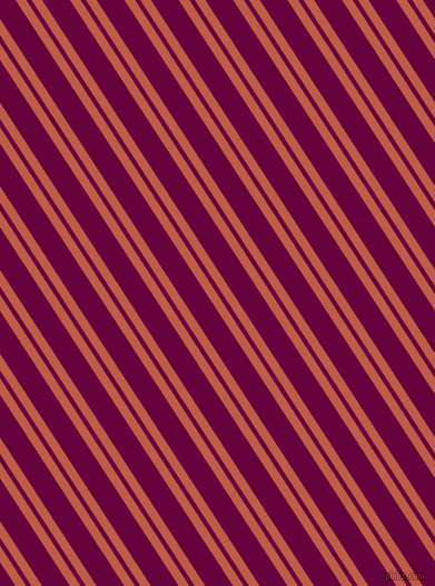 123 degree angles dual striped line, 8 pixel line width, 4 and 21 pixels line spacing, Flame Pea and Tyrian Purple dual two line striped seamless tileable
