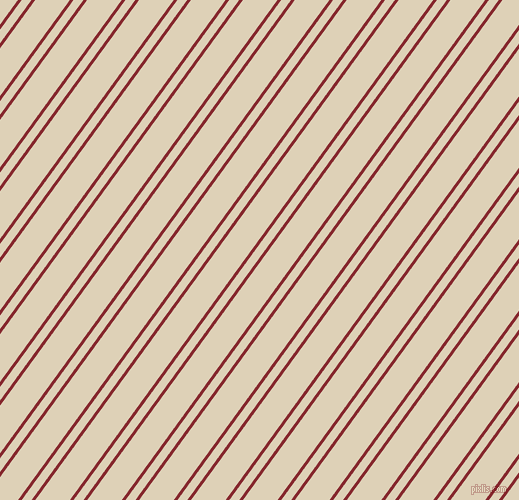 54 degree angle dual stripes line, 3 pixel line width, 8 and 28 pixel line spacing, Flame Red and Spanish White dual two line striped seamless tileable