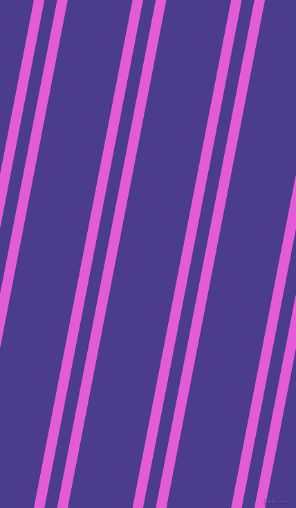 79 degree angles dual stripe line, 15 pixel line width, 18 and 92 pixels line spacing, Free Speech Magenta and Blue Gem dual two line striped seamless tileable