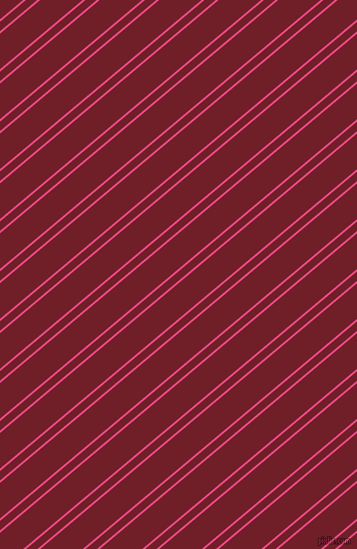 40 degree angles dual stripe line, 2 pixel line width, 8 and 30 pixels line spacing, French Rose and Red Berry dual two line striped seamless tileable