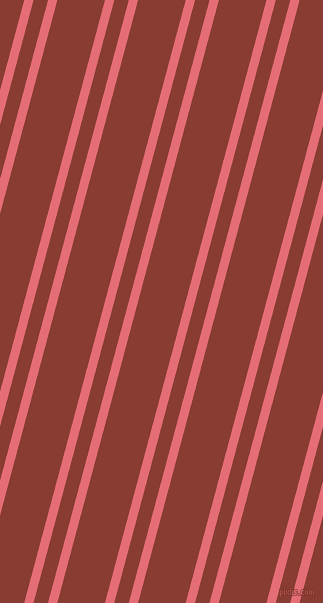 75 degree angles dual stripes line, 9 pixel line width, 14 and 46 pixels line spacing, Froly and Prairie Sand dual two line striped seamless tileable