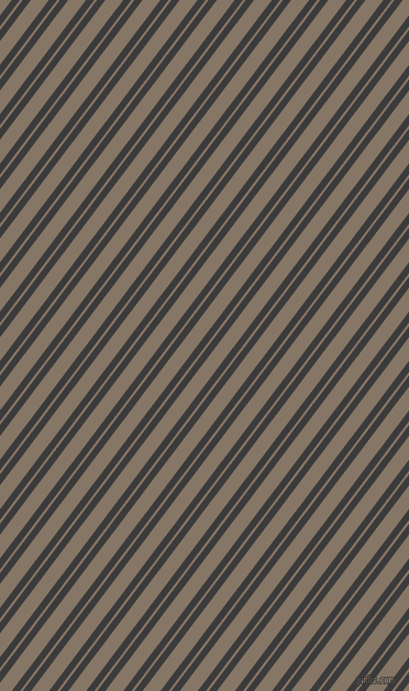 53 degree angles dual stripes line, 6 pixel line width, 2 and 13 pixels line spacing, Fuscous Grey and Sand Dune dual two line striped seamless tileable