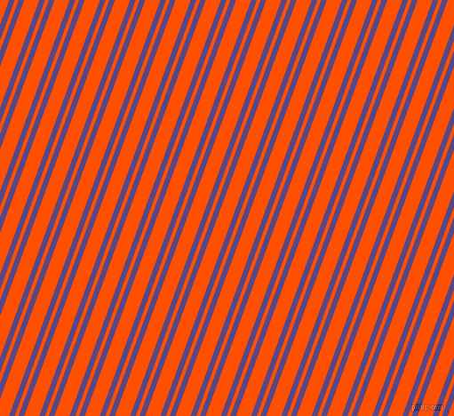 70 degree angles dual striped lines, 6 pixel lines width, 4 and 16 pixels line spacing, Gigas and International Orange dual two line striped seamless tileable