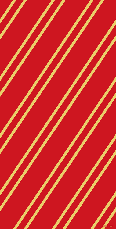 56 degree angles dual striped line, 9 pixel line width, 20 and 67 pixels line spacing, Golden Sand and Fire Engine Red dual two line striped seamless tileable