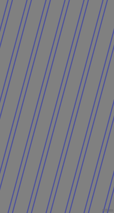 75 degree angle dual stripes line, 4 pixel line width, 10 and 43 pixel line spacing, Governor Bay and Grey dual two line striped seamless tileable