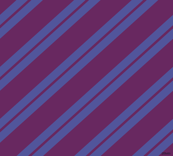 42 degree angles dual striped line, 32 pixel line width, 10 and 87 pixels line spacing, Governor Bay and Palatinate Purple dual two line striped seamless tileable