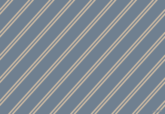 48 degree angles dual stripe line, 5 pixel line width, 4 and 37 pixels line spacing, Grain Brown and Slate Grey dual two line striped seamless tileable