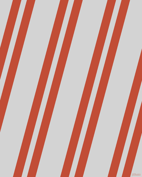 75 degree angles dual stripe line, 34 pixel line width, 22 and 99 pixels line spacing, Grenadier and Light Grey dual two line striped seamless tileable