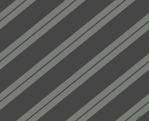 39 degree angle dual striped lines, 20 pixel lines width, 4 and 64 pixel line spacing, Gunsmoke and Charcoal dual two line striped seamless tileable