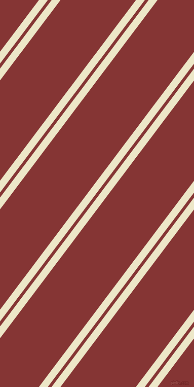 53 degree angle dual stripes line, 14 pixel line width, 6 and 119 pixel line spacing, Half And Half and Tall Poppy dual two line striped seamless tileable