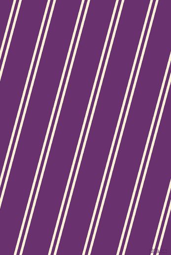 75 degree angles dual stripe line, 5 pixel line width, 6 and 51 pixels line spacing, Half Dutch White and Seance dual two line striped seamless tileable