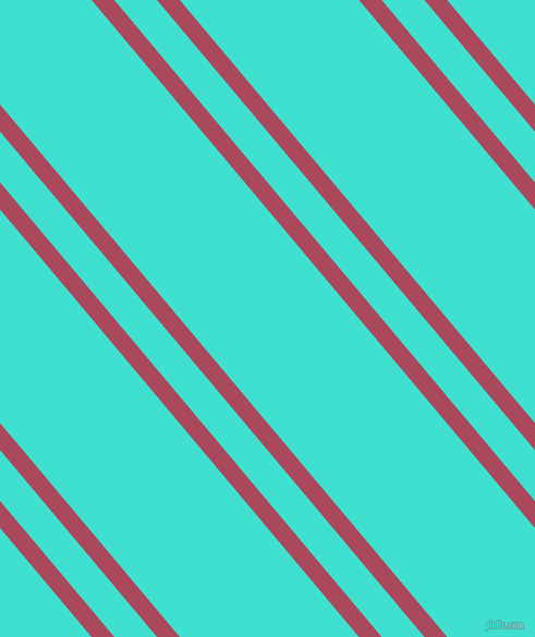 130 degree angles dual stripes line, 16 pixel line width, 30 and 126 pixels line spacing, Hippie Pink and Turquoise dual two line striped seamless tileable