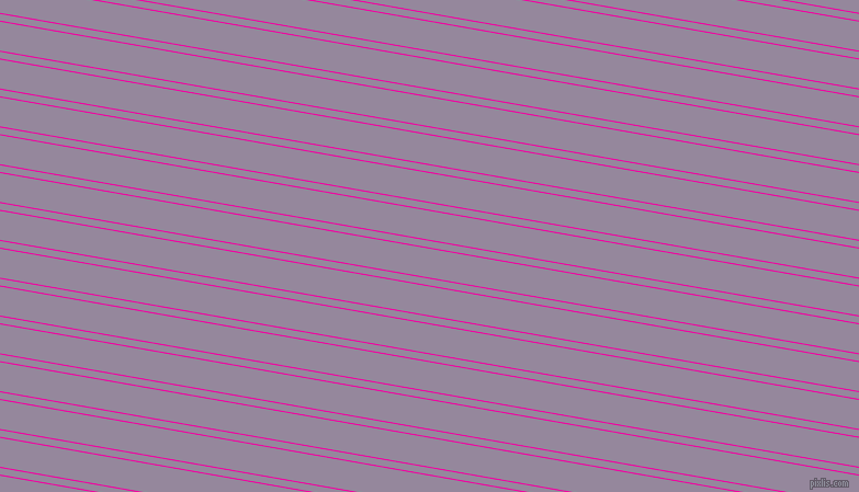 170 degree angle dual stripes lines, 1 pixel lines width, 6 and 26 pixel line spacing, Hollywood Cerise and Amethyst Smoke dual two line striped seamless tileable