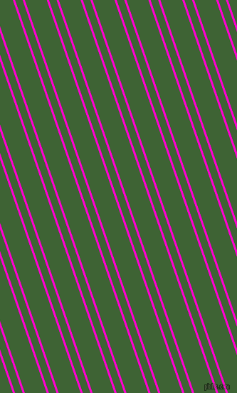 109 degree angle dual striped line, 3 pixel line width, 10 and 29 pixel line spacing, Hot Magenta and Green House dual two line striped seamless tileable