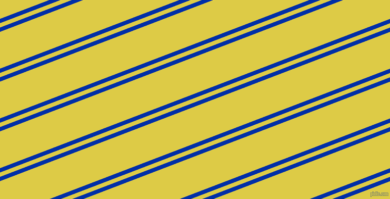 21 degree angle dual stripe line, 8 pixel line width, 8 and 68 pixel line spacing, International Klein Blue and Confetti dual two line striped seamless tileable