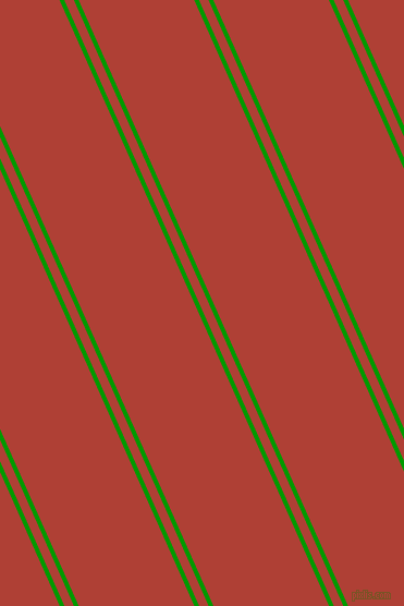 114 degree angle dual stripes line, 4 pixel line width, 8 and 97 pixel line spacing, Islamic Green and Medium Carmine dual two line striped seamless tileable
