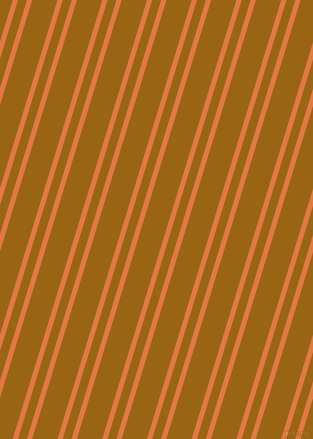 73 degree angles dual stripe lines, 7 pixel lines width, 12 and 34 pixels line spacing, Jaffa and Golden Brown dual two line striped seamless tileable
