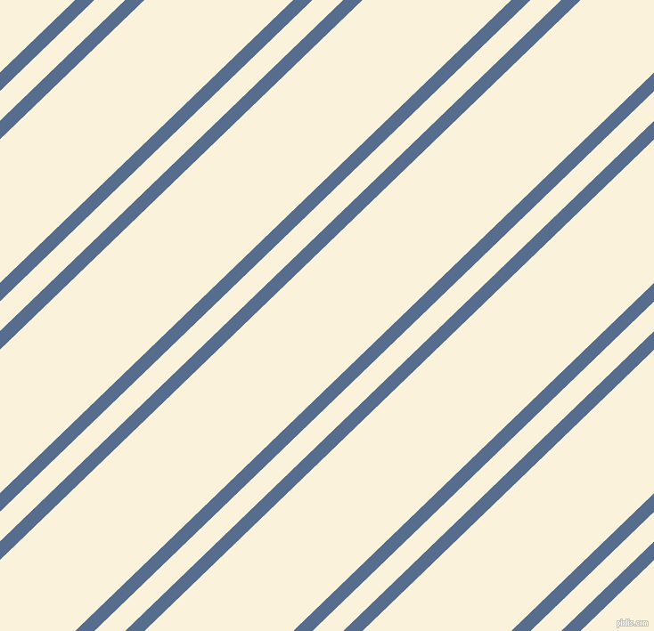 44 degree angles dual stripes line, 15 pixel line width, 24 and 116 pixels line spacing, Kashmir Blue and Early Dawn dual two line striped seamless tileable