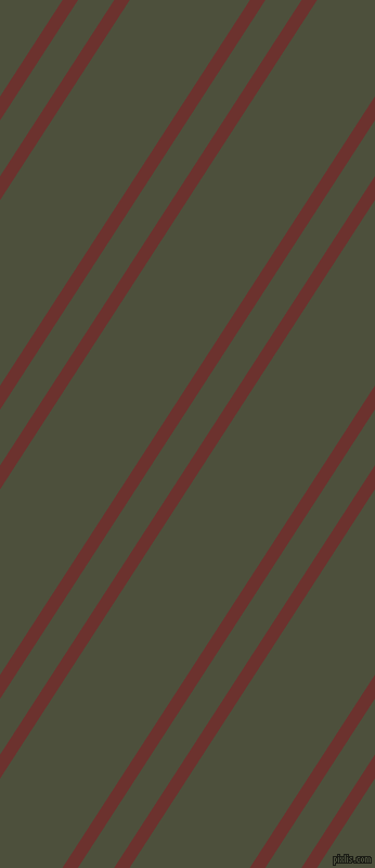 57 degree angles dual stripe lines, 12 pixel lines width, 28 and 93 pixels line spacing, Kenyan Copper and Kelp dual two line striped seamless tileable
