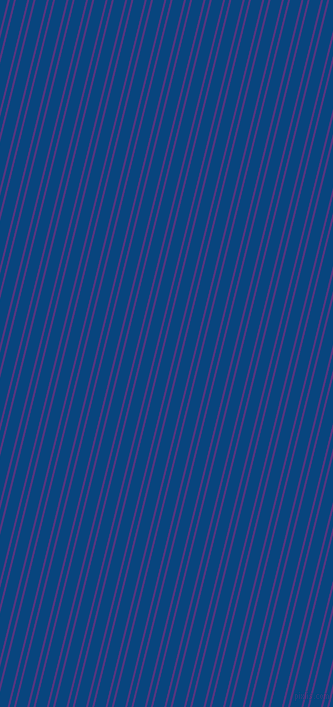 76 degree angles dual stripes lines, 2 pixel lines width, 4 and 11 pixels line spacing, Kingfisher Daisy and Dark Cerulean dual two line striped seamless tileable