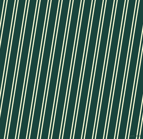 81 degree angle dual stripes line, 4 pixel line width, 6 and 24 pixel line spacing, Light Goldenrod Yellow and Deep Teal dual two line striped seamless tileable