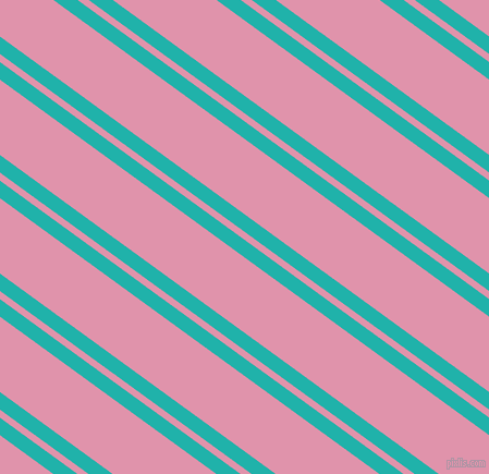 144 degree angles dual stripes line, 13 pixel line width, 6 and 56 pixels line spacing, Light Sea Green and Kobi dual two line striped seamless tileable