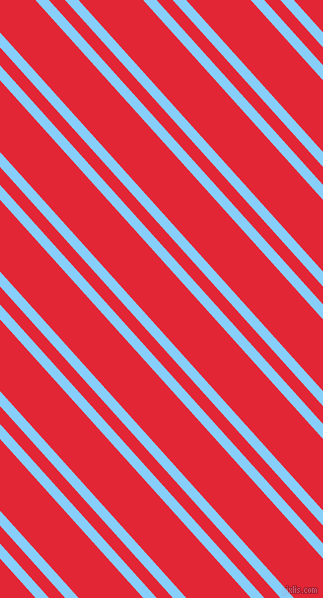 132 degree angles dual stripe lines, 10 pixel lines width, 12 and 48 pixels line spacing, Light Sky Blue and Alizarin dual two line striped seamless tileable