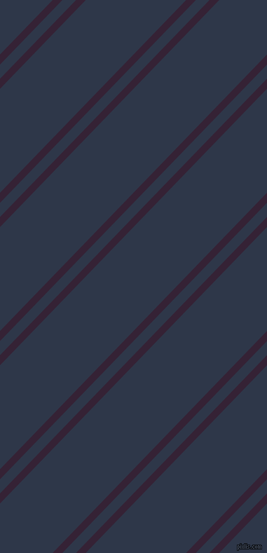 46 degree angles dual stripe line, 10 pixel line width, 14 and 103 pixels line spacing, Mardi Gras and Licorice dual two line striped seamless tileable