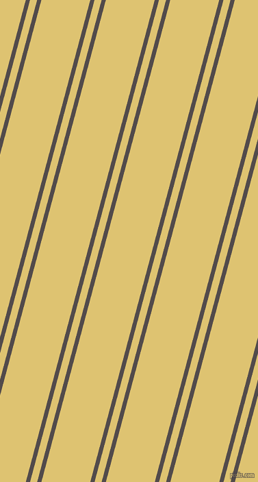 75 degree angles dual stripe lines, 6 pixel lines width, 10 and 69 pixels line spacing, Matterhorn and Chenin dual two line striped seamless tileable